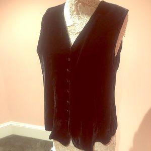 Plush vintage velvet vest